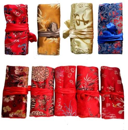 Groothandel 20 stks Chinese Handgemaakte Classic Silk Sieraden Rollen Pouch Purse Gift Bags-in Sieraden Verpakkingen & Displays van Sieraden & accessoires op  Groep 1