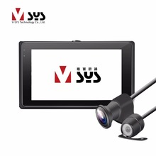 SYS Vsys T2 dual cameras motorbike racing video recorder motorcycle DVR with front 1080p FHD 170 degree and rear VGA lens