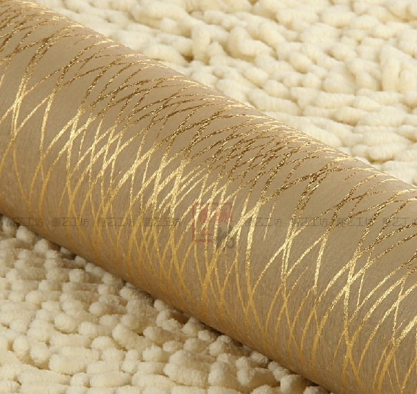Modern Luxury Gold Striped Wallpaper Waterproof Reflective Roll Living Room Bedroom Papel De Parede 3D Listrado In Wallpapers From Home
