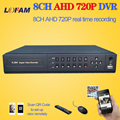 LOFAM HDMI 1080p CCTV 8Channel DVR NVR hybrid Full HD AHD 720P 25fps realtime Recording 8ch surveillance security DVR recorder