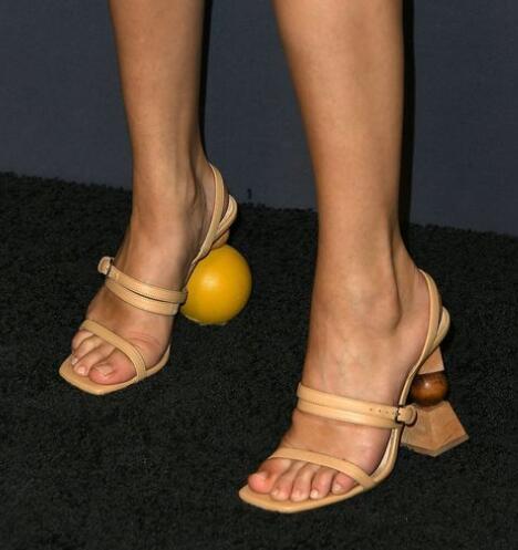 Talon Jouet Femme Asymétrique Sandale De Photo Construction as Mode Défilé Sangles Balle Sandales Réel Brique Blocs Boucle As Photo Modèles Spectacle 16nqwXWPx