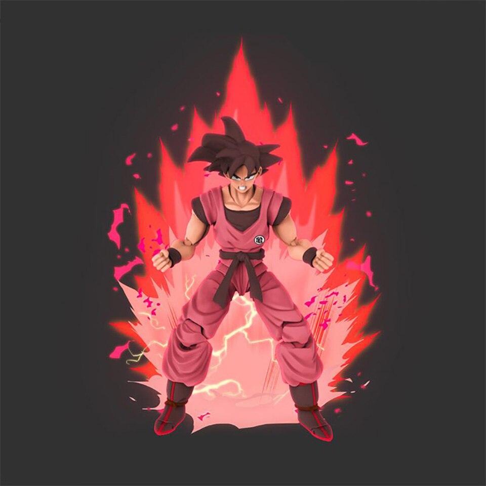 Tronzo Demoniacal pasuje do Goku Kaiohken SHF Goku czarne włosy pcv Action model figurki Dragon Ball Z Son Goku SSJ figurka zabawki prezent w Figurki i postaci od Zabawki i hobby na  Grupa 1