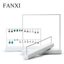 FANXI stojak do wystawiania biżuterii kolczyki z białego metalu naszyjnik patera Organizer biżuterii stojak wystawowy na biżuterię