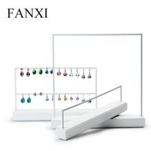 Fanxi Sieraden Display Rack Wit Metalen Oorbellen Ketting Display Houder Sieraden Organisator Expositor Sieraden Display Stand