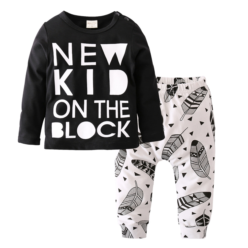 2d81f9e0d0b5d US $6.99 25% OFF|2019 Autumn style Baby Boy Clothes Unisex Infant Clothes  Long sleeved T shirt+Creative Pants Newborn Baby Girl Clothing Set-in ...