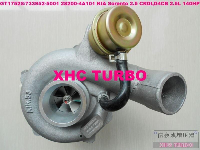 Turbocompressor novo do turbocompressor de gt1752s 733952 28200-4a101 para kia sorento 2.5 crdi, d4cb 2.5l 140hp 02-07