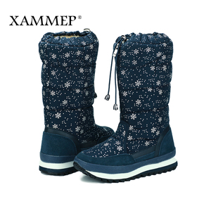 Image 4 - Womens Winter Shoes Knee High Boots Plus Big Size High Quality Brand Women Shoes Plush And Wool Women Winter Boots
