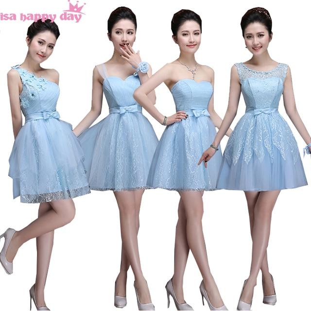 bd140c2b65 special occasion strapless sweetheart tulle light sky blue short bridesmaid  dress formal mini dresses under  50 for girls B3383