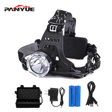PANYUE 1600LM T6 Led Headlamp Headlight Waterproof 3-Modes Head Torch flashlight Head lamp Fishing Hunting Light panyue 3000lm 3 xml t6 cob led headlamp hunting red light fishing headlight led flashlight outdoors tent camping portable lamp