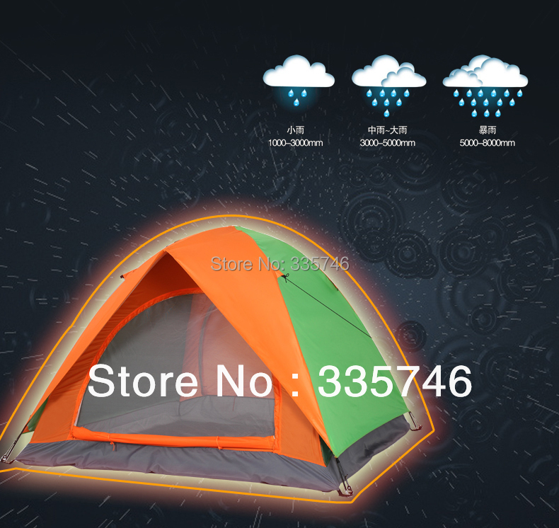 New 2016 Outdoor Camping Equipment 3 4 Person Family Tourism Tents Four-season Double Layer Waterproof hiking tent nv print mltd115l