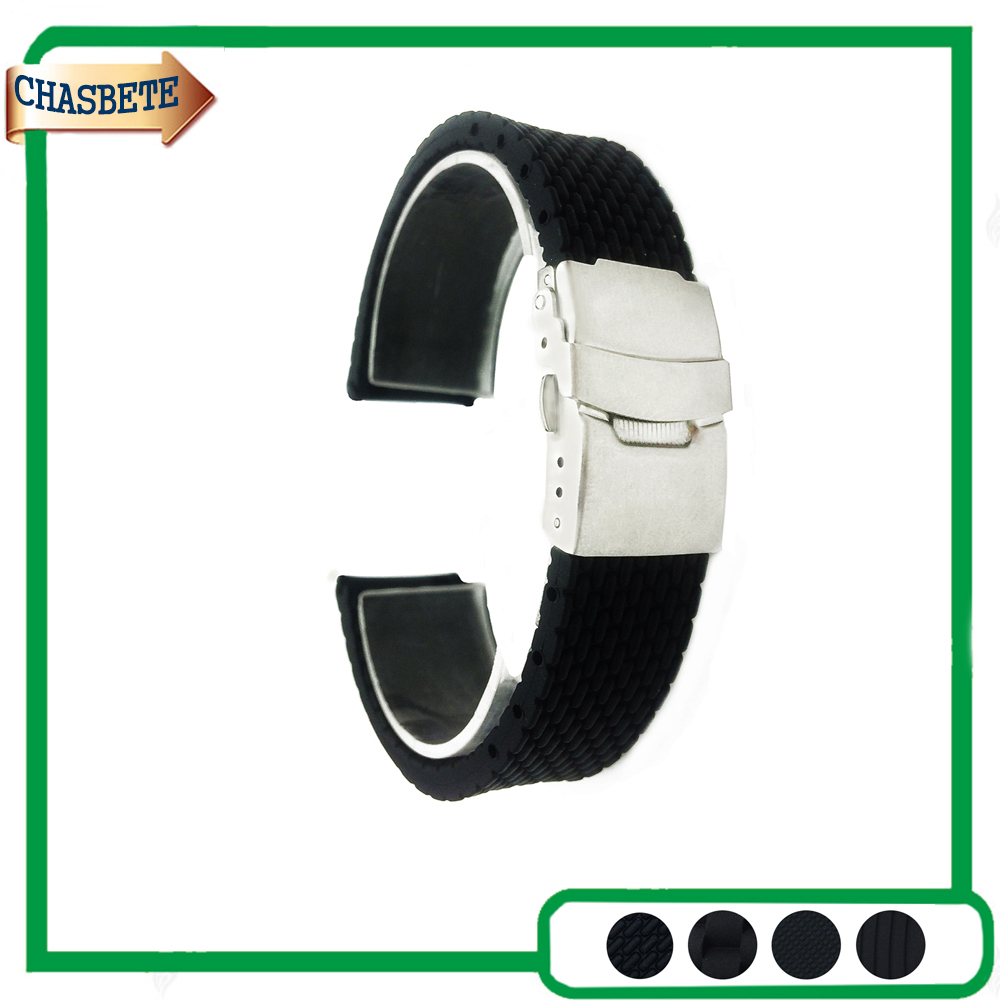 Silicone Rubber Watch Band for Ticwatch 1 2 42mm 46mm 20mm 22mm Men Women Resin Strap Belt Wrist Loop Bracelet Black + Pin silicone rubber watch band 20mm 22mm 24mm for jacques lemans watchband strap wrist loop belt bracelet black men women tool