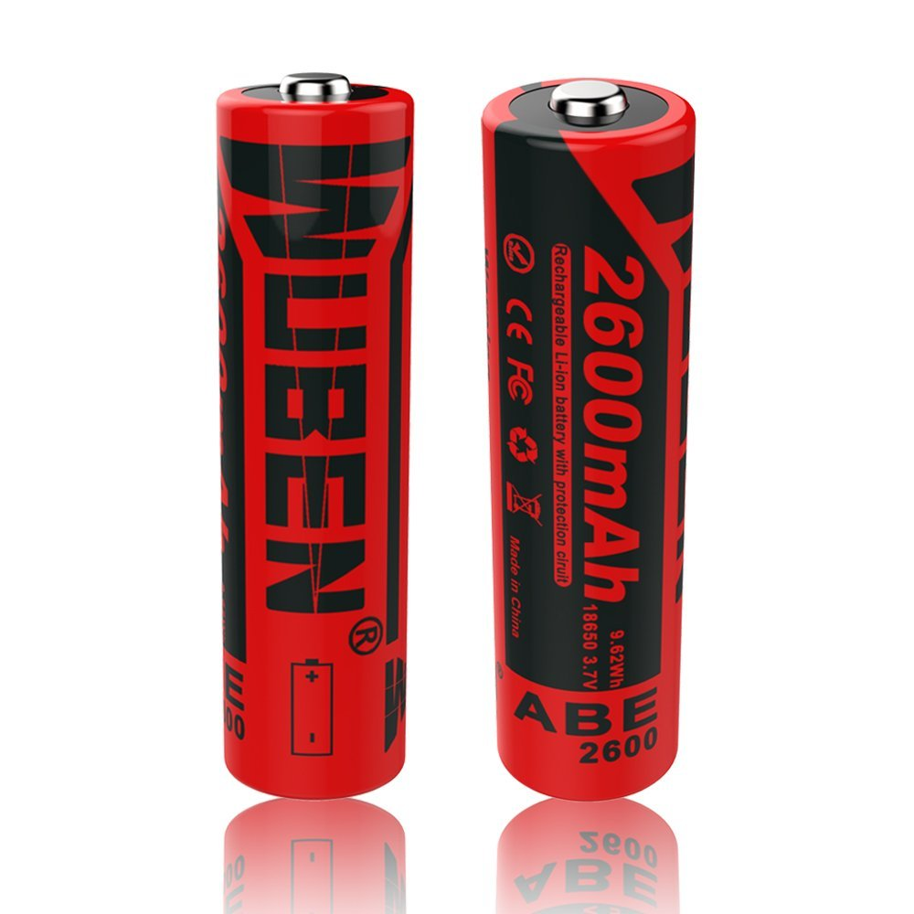 High Capacity 18650 3.7V Rechargeable 2600mAh Capacity Li-ion Battery Cell For Led Waterproof Flashlight ( 2 pcs ) Good QualityHigh Capacity 18650 3.7V Rechargeable 2600mAh Capacity Li-ion Battery Cell For Led Waterproof Flashlight ( 2 pcs ) Good Quality