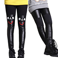 Autumn & Winter 2017 Girls Leggings Warm Thick Pants for Girls Children Clothing Leather Pants Big Kids Clothes Outfits 4-14Y
