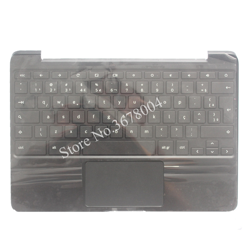 NEW Brazil Laptop Palmrest With Keyboard For SAMSUNG Chromebook XE500C13 BR Laptop Keyboard laptop keyboard for lg 15n540 sn5840 sg 59030 40a sn5840 sg 59030 xra black without frame korea kr br brazil