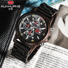 1010 Men's wood watch, hand vintage quartz watch, natural wood wristwatch, men's waterproof watch, Relogio Masculino
