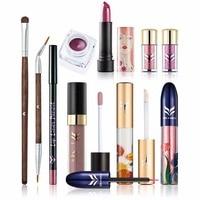 HUAMIANLI Professional High Quality Women Makeup Sets 10pcs Lots Lipstick Eyeliner Eyeshadow Brush Full Brand Makeup