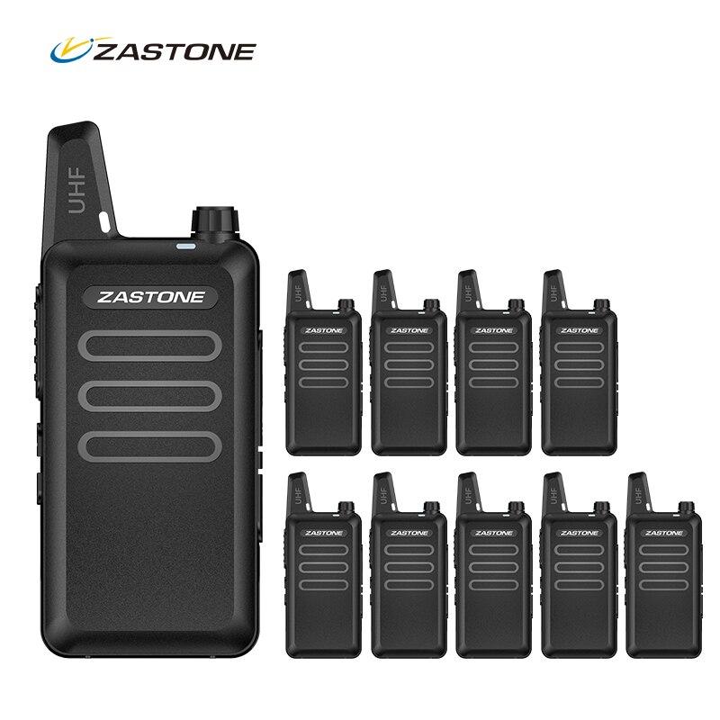 10PCS Lot Zastone ZT X6 Portable Walkie Talkie Mini Handheld Radio UHF 400 470MHz Two Way