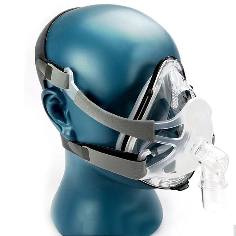 Rosto cheio Máscara Nasal Com Arnês Para CPAP BiPAP Sleep & Ronco Respirador Uso Para O Ventilador
