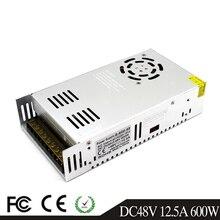 600 Вт 48 В 12.5A драйвер импульсного источника питания Трансформаторы AC110V 220 В к DC48V SMPS для светодиодных лент модули светильник CCTV 3d принтер