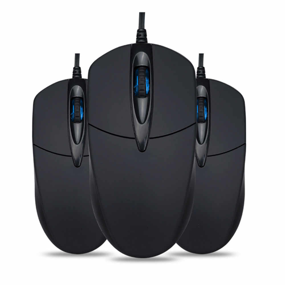 Mouse 3 Button 1200 DPI USB Wired Silent Optical Gaming Mice Mouses For PC Laptop#5$