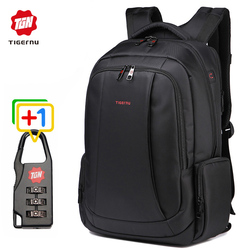 Tigernu USB quality Laptop Backpack for students school bags business travel Daypack mochila Sending free gift free shipping