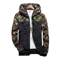 Spring Autumn Male Jacket Outerwear Zipper Breasted Mens Camouflage Jackets Casual Fashion Windbreaker Coat Men Slim