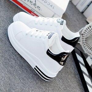 Image 4 - SWYIVY, zapatos informales de microfibra, zapatillas de deporte para mujer, zapatos blancos, zapatillas de plataforma de primavera 2020 para mujer, nuevos zapatos de mujer