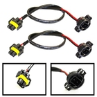 Set of 2 - 5202 (or H16) to H11 (or H8/880/881) Wiring Pigtail Conversion Harness Connector Wire Adapter Socket Plug Cable