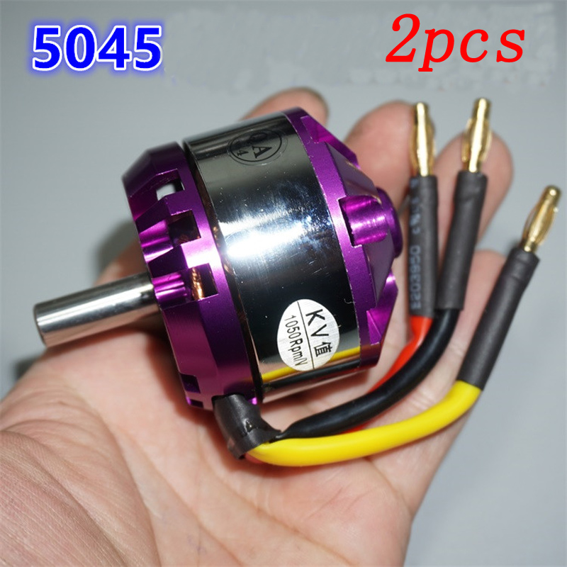 2pcs 5045 Outrunner Brushless Airplane Motor KV1050 High Power Large Torque Engine Motors Shaft Dia 8mm
