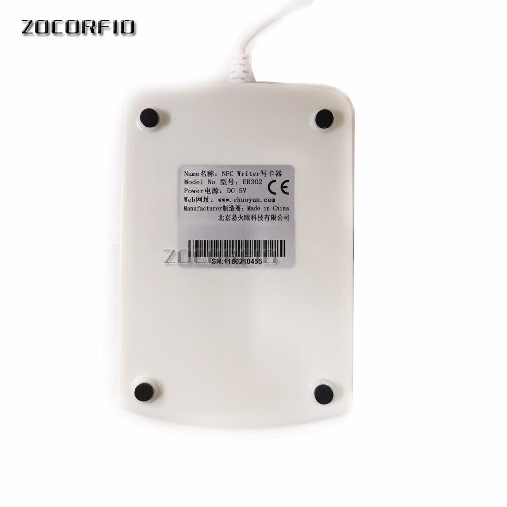 Купить с кэшбэком Rfid NFC Reader Writer 13.56MHZ USB ER302 Android +Auto Scan+ SDK+Software eReader +3 Tags