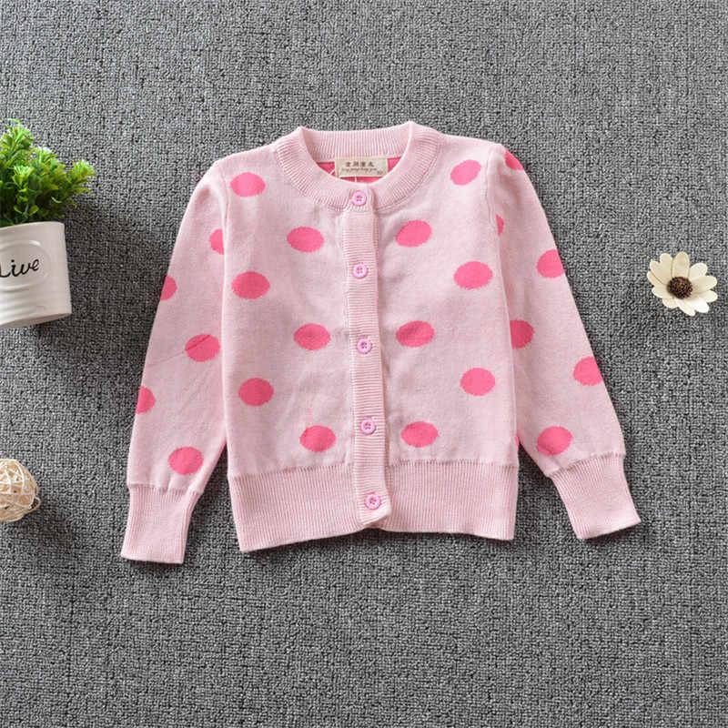 Baby meisje jongens kleding Kinderen Trui Kinderen Trui Vest Peuter Warme Gebreide Dot Print Coat Vest Tops Outfits Kleding