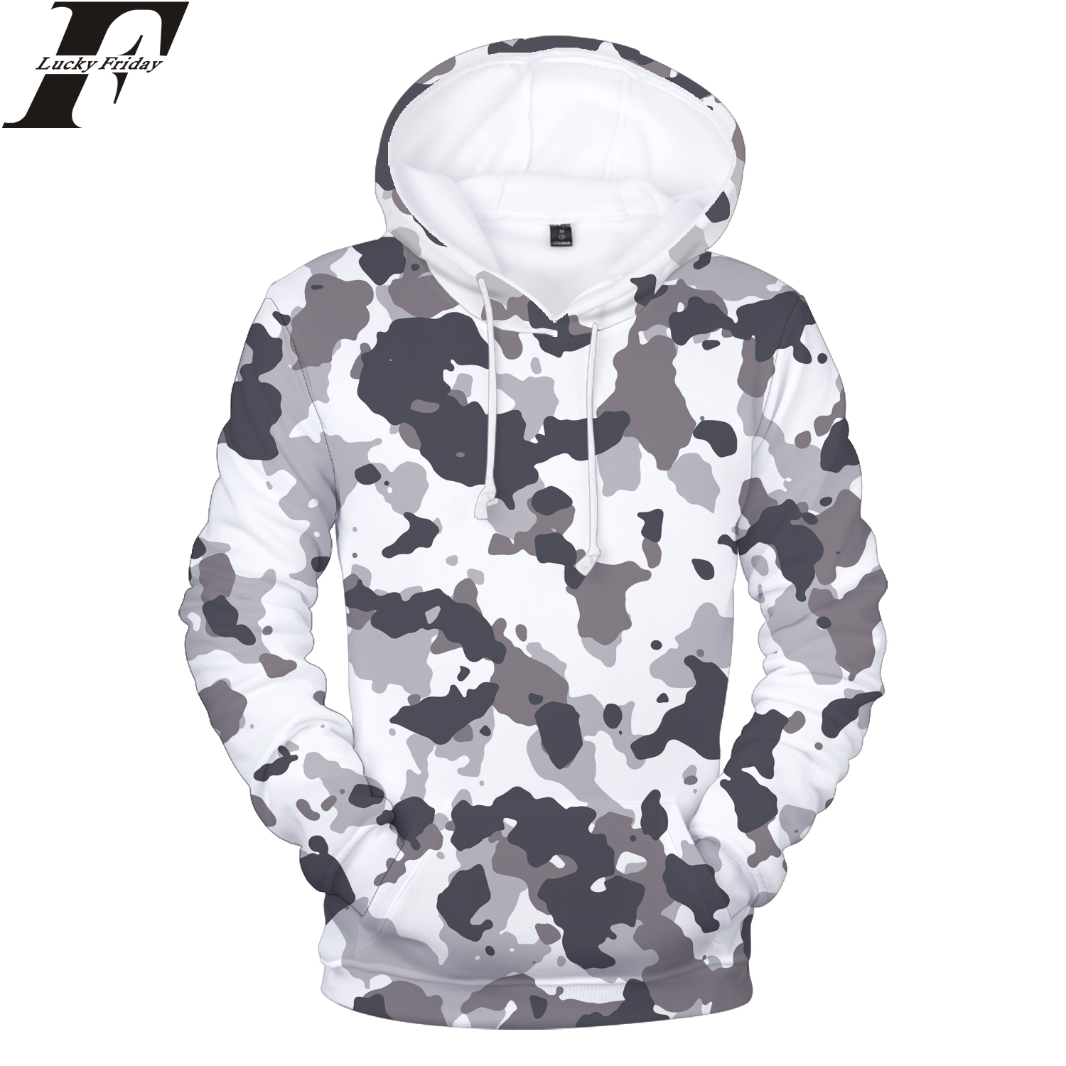 LUCKYFRIDAYF Camouflage Style 3D Hoodies Sweatshirts Women/Men Hoodies hit hop Hoodies Patchwork Style Casual Clothes Plus Size