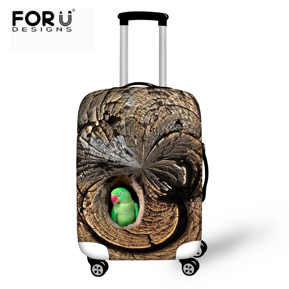 FORUDESIGNS Bird Luggage Protective Cover For 18 To 30 Inch Trolley Suitcase Elastic Dust Bags Case Travel Accessories Supplies