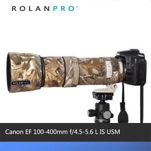 ROLANPRO עדשת הסוואה מעיל גשם כיסוי עבור Canon EF 100 400mm f4.5 5.6 L הוא USM עדשה מגן מקרה עדשת הגנת שרוול