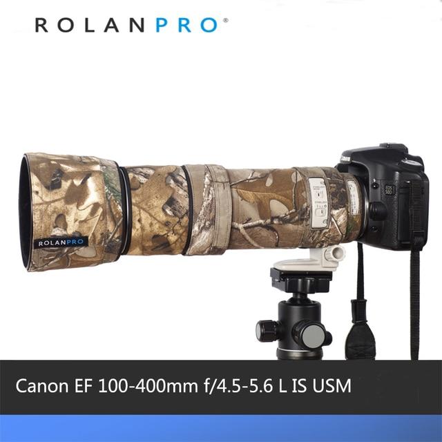ROLANPRO Lens Kamuflaj Ceket yağmur kılıfı Canon EF 100 400mm f4.5 5.6 L IS USM Lens Koruyucu kılıf Lens koruma kollu