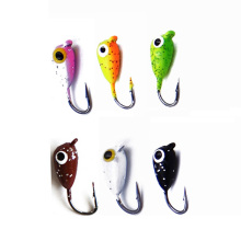 6Pcs/Pack Winter Ice Fishing Hook 2cm 1.9g Mini Metal Lead Head Soft Bait Small