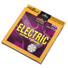 Alice Electric Guitar Strings 009 010 inch Plated Nickel Alloy Wound String Set Steel Core (009-042) (010-046) fender super 250 nickel plated steel ball end 250 r 010 046
