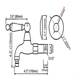 Image 4 - רטרו עתיק פליז ידית אחת מטבח ברז קיר רכוב אמבטיה מכבסה Mop מים ברז גן מכונת כביסה ברז aav313