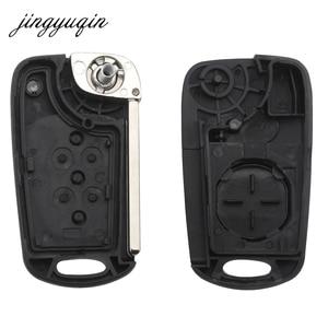 Jinyuqin 3 кнопки для замены автомобильного откидного ключа, пустой корпус для пульта дистанционного управления для Hyundai Solaris