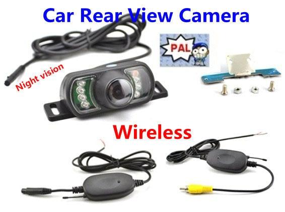 2.4G GPS Wireless Car Rear View Night Vision Reversing Backup Color Camera PAL