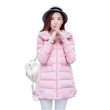 Бесплатная доставка 2016 Зима Новые Моды для Женщин Вниз Пальто Хлопка длинный отрезок версия большой размер куртки хлопка теплая зима пальто