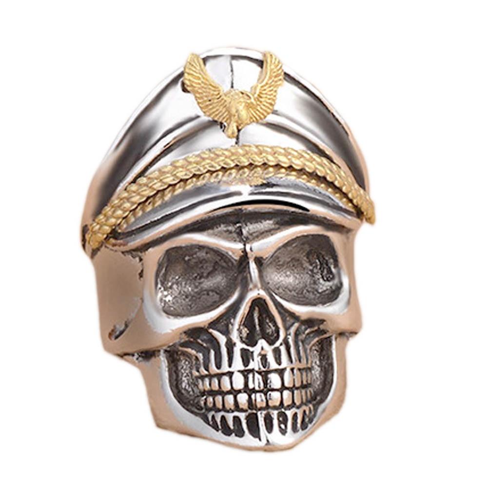 steel soldier stainless steel men punk skull ring vintage domineering skull 316l steel jewelry - Skull Wedding Rings For Men