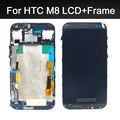 5.0 pulgadas 100% probado de calidad superior para htc one m8 Pantalla LCD con pantalla táctil digitalizador Asamblea con marco de reemplazo partes