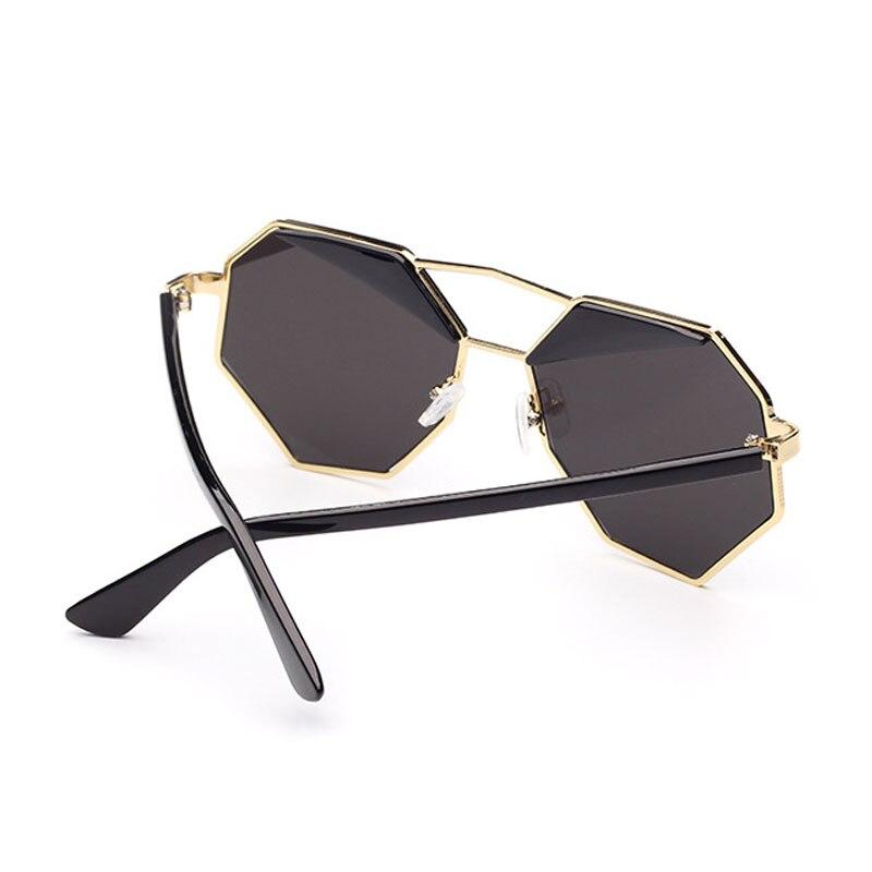 8827f532770 2017 Trendy Fashion Unique Geometry Sunglasses Women Classic Brand Designer  Twin Beams Polygon Sun Glasses Coating Oculos De Sol-in Sunglasses from  Apparel ...