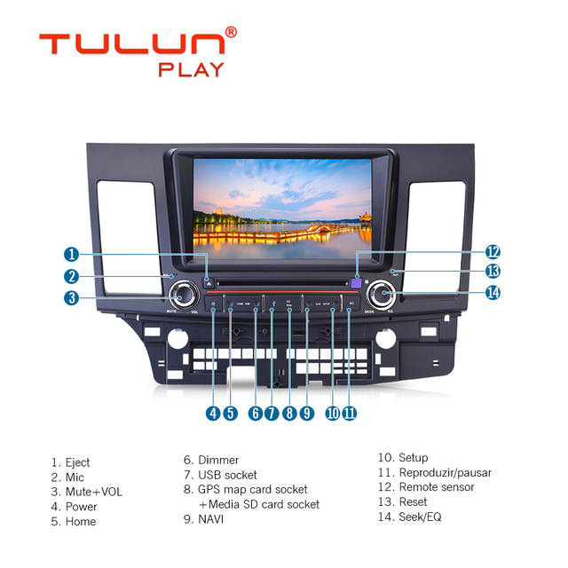 US $329 0 |Car Multimedia Player Octa Core Android 8 1 GPS 2 Din Car DVD  Player for Mitsubishi Lancer EX 2008 2015 Wifi Car Radio DSP-in Car