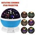 Quarto Novidade Night Light Projector Lamp Rotary Piscando Estrelado Estrela Lua Céu Estrela Projetor Abajur Infantil Das Crianças Dos Miúdos Do Bebê