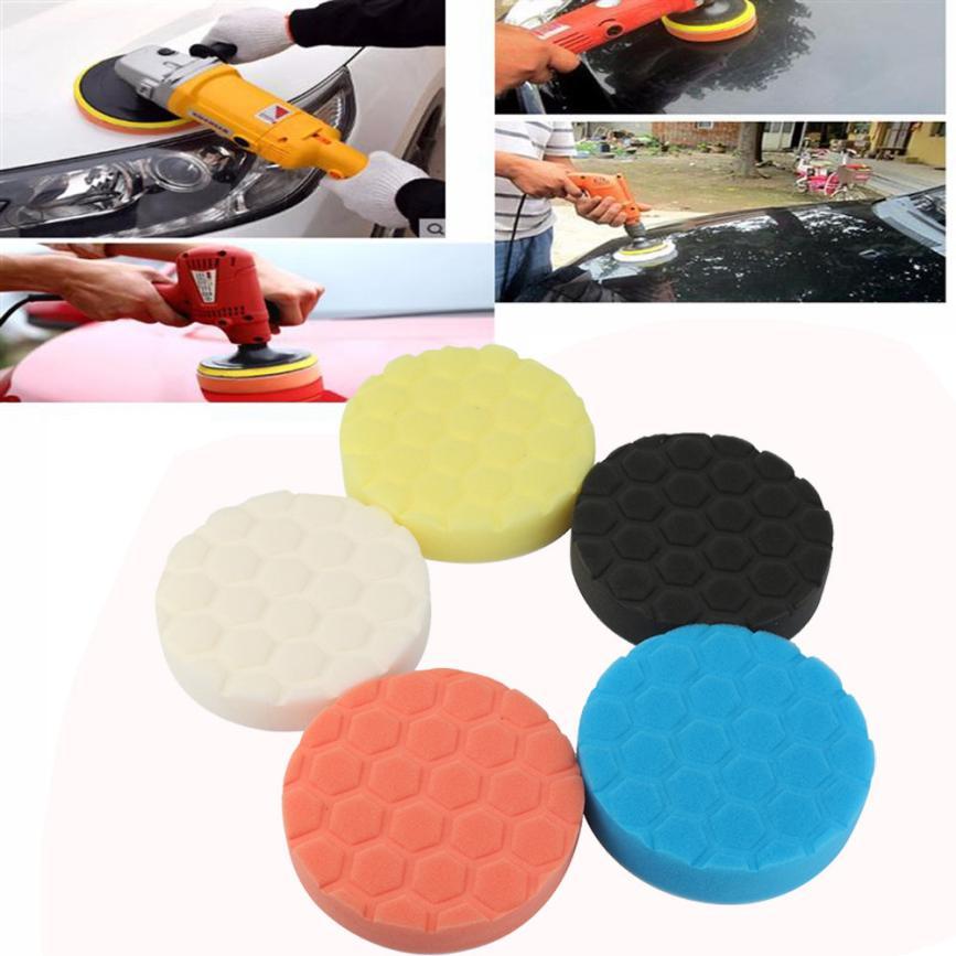 CARPRIE 5PCS Car Sponge Polishing Pad Colorful Waxing Buffing Pads For Car Polisher June ...