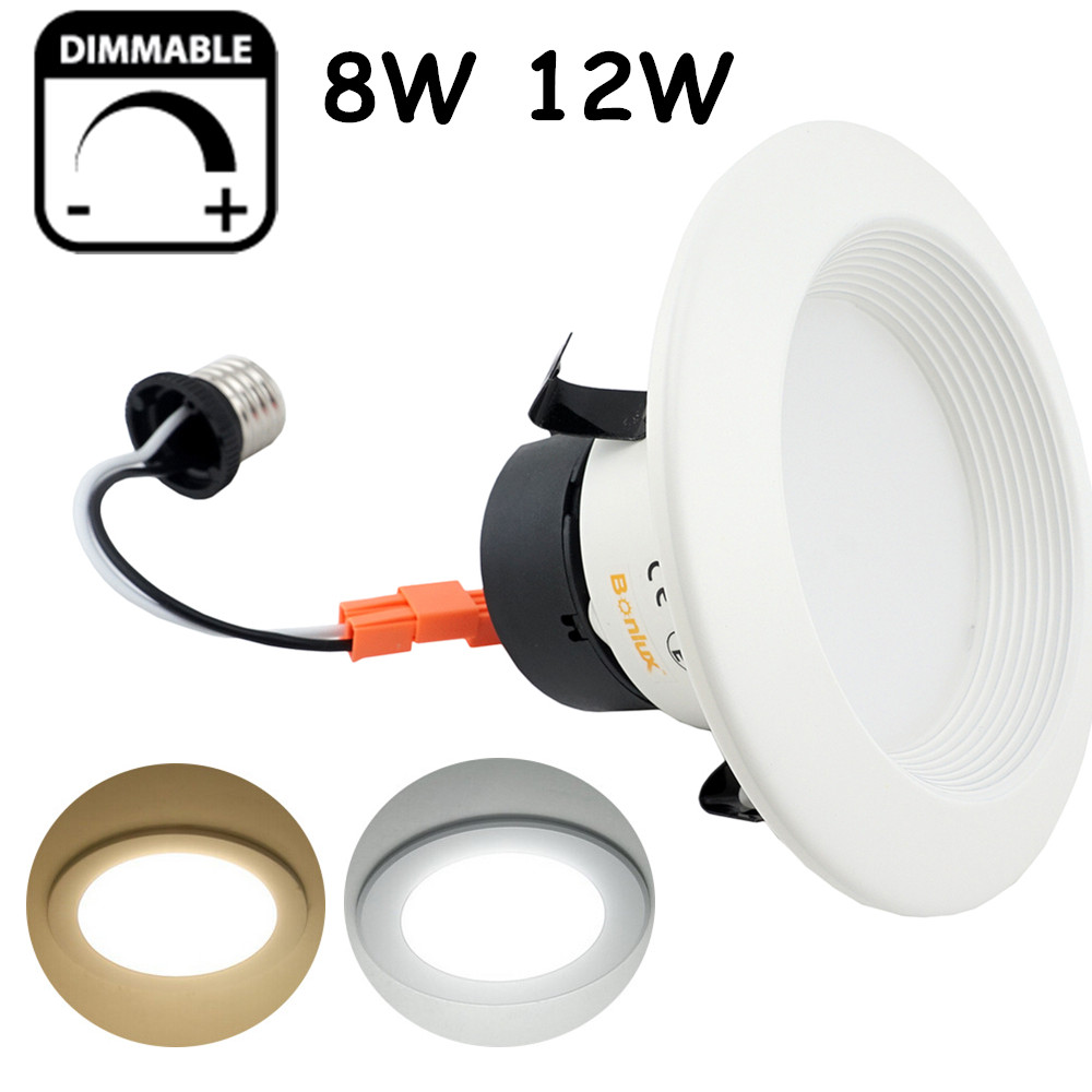 8W 12W Dimmable LED Downlight UL LISTED Retrofit Recessed Lighting 4 ...