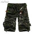 2017 Homens Verão Calções Calções Camuflagem Verde Do Exército Curto Metade do Comprimento de Moda Calças Casuais Masculinos Calções Dos Homens Marca de Roupas