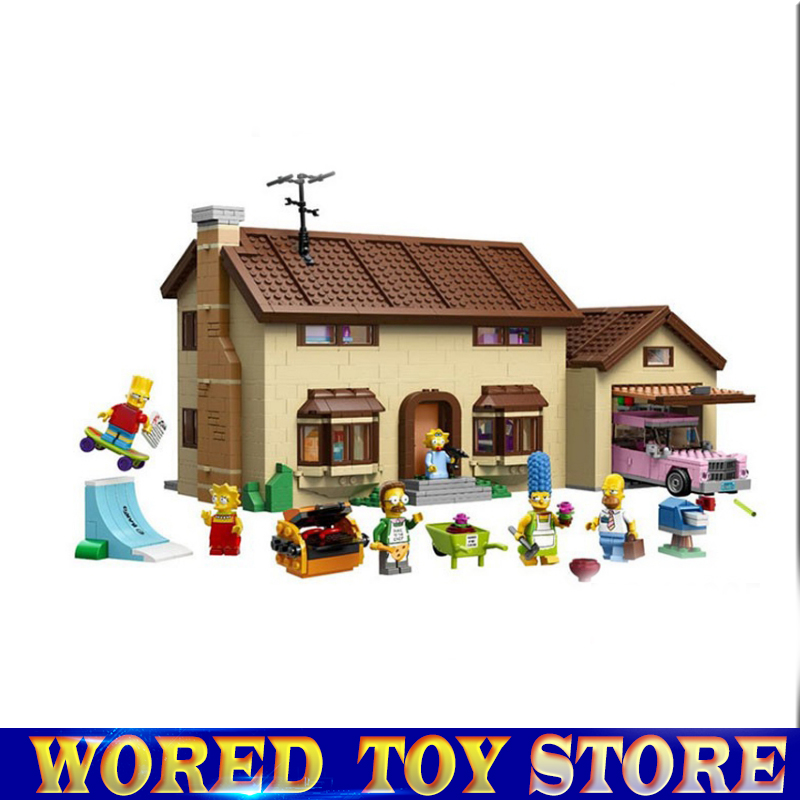 Lepin 16005 Simpsons Haus 2575 Stucke Modell Baustein Ziegel Kompatibel legoed 71006 Jungen geschenk конструктор lepin creators simpsons дом симпсонов 2575 дет 16005
